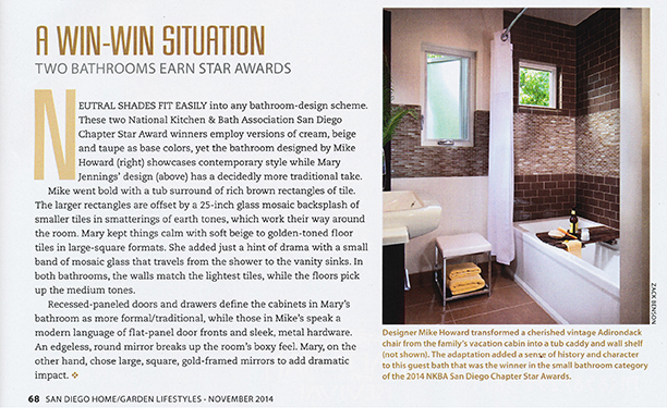 Howard Interior Design featured in San Diego Home and Garden Magazine